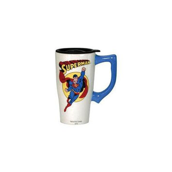 Spoontiques Superman White Travel Mug with Handle