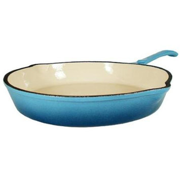 Fancy Cook Enamel Cast Iron Blue Skillet - 10 in.
