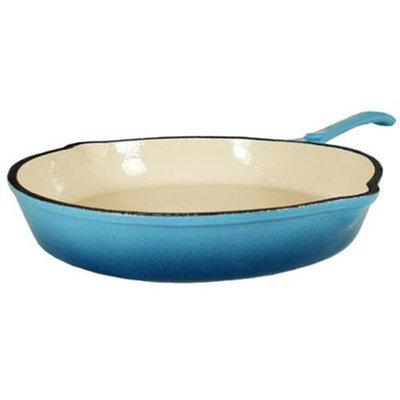 Fancy Cook Enamel Cast Iron Blue Skillet - 10 in.