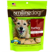 Herbsmith Smiling Dog Freeze Dried Turkey Dog Treats 2.5 oz.
