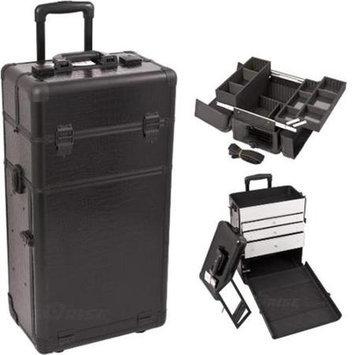 Just Case Sunrise I3263CRAB Black Crocodile Trolley Makeup Case