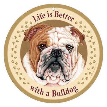 Sjt Enterprises Life Is Better Breed Plaque Bulldog