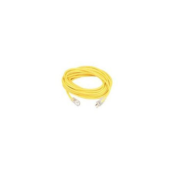 Coleman Cable 01798 50 10/3 Yellow American Contractor Outdoor Extension Cord