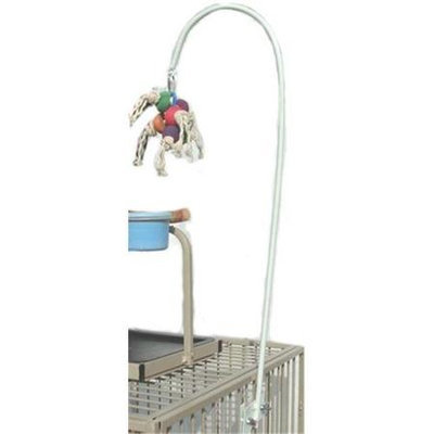 Mango Pet Products 1160 Locking Cage Toy Holder 24 in. - White