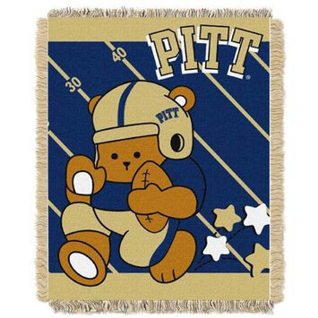 PIt'sburgh Panthers NCAA Triple Woven Jacquard Throw (Fullback Baby Series) (36x48)