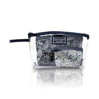 Jacki Design AHL15020BU Mystique 3 Piece Cosmetic Bag Set Burgundy