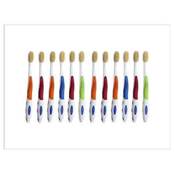 Mouth Watchers, Llc Mouth Watchers NS-712 Antimicrobial Adult Toothbrush With Flossing Bristles