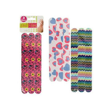 Dollar Days 3-PC. Foam Nail Files (Pack of 24)