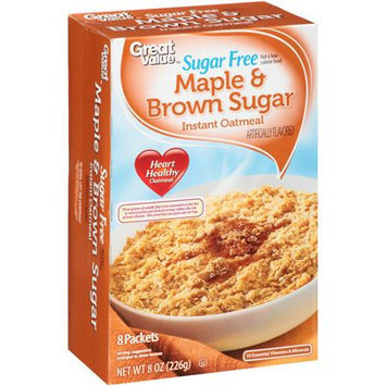 Great Value: Sugar Free Maple & Brown Sugar Instant Oatmeal, 8 oz