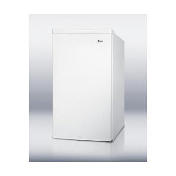 Summit Appliances CM420ES ENERGY STAR qualified compact refrigerator-freezer in white, under 20 inches wide with front lock