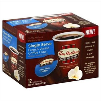 Tim Horton 4.44 oz. Single Serve Realcup - French Vanilla Coffee Cups Case Of 6