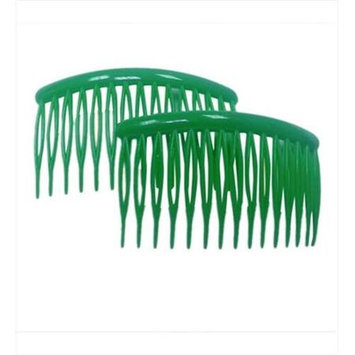 Coveryouhair CoverYourHair 61271 3 in. Plastic Hair Combs Green