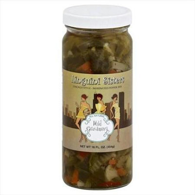 Linguini Sisters 16 oz. Giardiniera Mild Pickel - Case Of 6