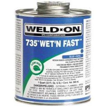 Ips Corporation 451203 Weld-On Cement Pvc Blue Wet N Fast