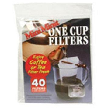 Mini-minit MiniMinit 40 filters & 1 holder one cup tea coffee