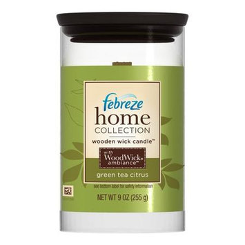 Febreze Home Collections Wooden Wick Candle Green Tea Citrus
