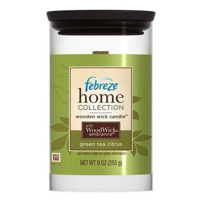 Febreze Home Collections Wooden Wick Candle Green Tea Citrus
