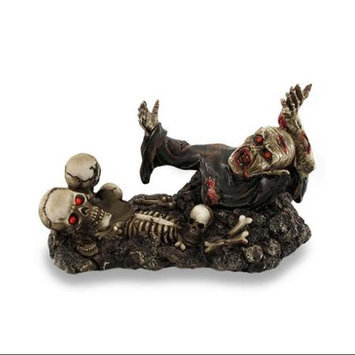 Zeckos Zombie and Skulls w/Glowing Red Eyes Wine Holder Statue Bottle Display