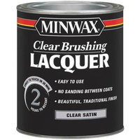 Minwax Co Inc 15510 Clear Brush Lacquer Satin Interior - Oil-Based Clear - Quart