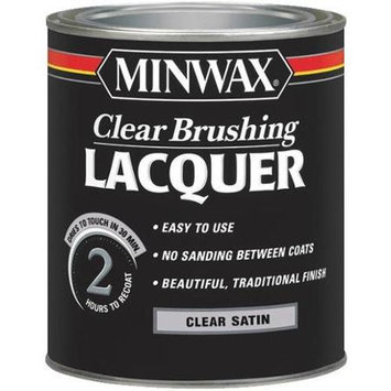 Minwax Co Inc 15510 Clear Brush Lacquer Satin Interior - Oil-Based Clear - Quart