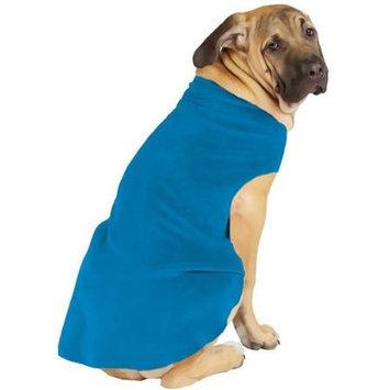 Gold Paw Fleece Dog Coat - Size: 10, Color: Blue