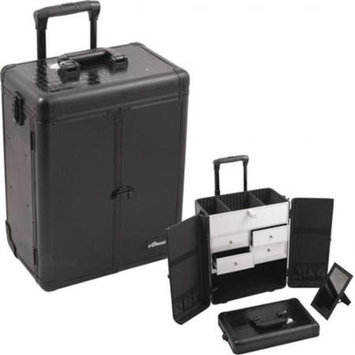 Sunrise Cases Sunrise Split Drawer Professional Makeup Rolling Case with French Doors