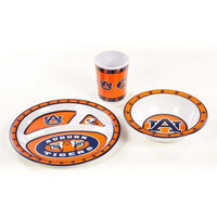 BSI Products Dinnerware Sets Ncaa Auburn Tigers 3-Piece Kid's Dish Set 31145