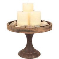 Stonebriar Collection Rustic Pedestal Decor (Brown)