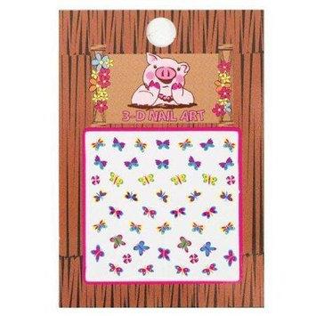 Piggy Paint - 3-D Nail Art Butterfly - 1 Sheets