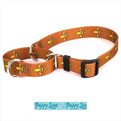 Yellow Dog Design M-PLB100XS Puppy Love Blue Martingale Collar - Extra Small