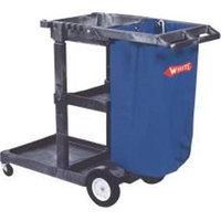 Impact Products 883090 Janitors Cart With 25Gl Blue Vinyl Bag