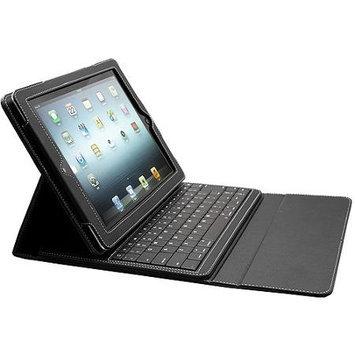 Solidtek Inc. Leather Portfolio Case w/Bluetooth Keyboard, iPad 2, Black, Solidtek