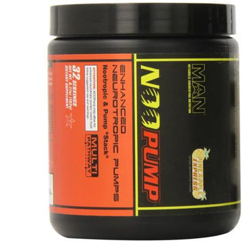 MAN Sports Noopump Energy Powder, Pineapple Express, 6.77 oz