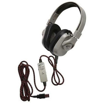 Ergoguys Califone Washable Titanium Headphone with Guaranteed for Life Cord - Stereo - USB - Wired - 50 Ohm - 20 Hz 20 kHz - Over-the-head - Binaural - Ear-cup - 6 ft Cable