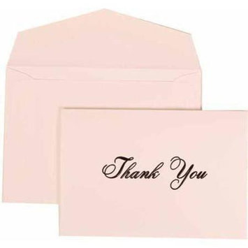 JAM Paper? - Bright White with Black Print Thank You Cards - 104 foldover cards & 100 envelopes