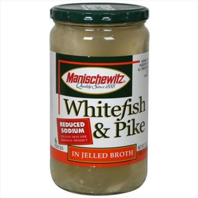 Manischewitz Fish White&Pike Rdcd Sodm Jeld 24 OZ -Pack Of 6