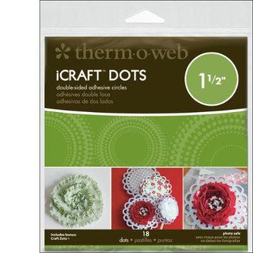 Thermoweb 33-79 iCraft Adhesive Dots-1.5 in. Diameter 18-Pkg