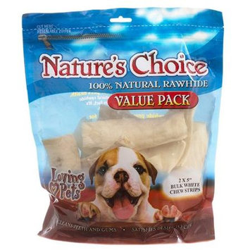 Loving Pets Nature's Choice White Rawhide Chew Strips Value Pack: 1 l