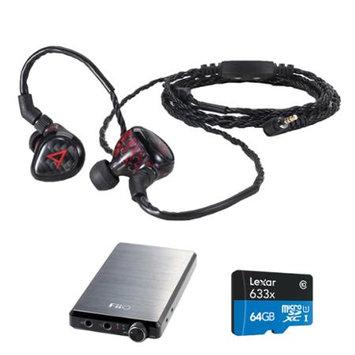 Astell & Kern JH Audio Special Edition Angie Headphones, Red w/ FiiO E12 Pro Amps Bundle