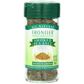 Frontier Natural Products Smoked Sea Salt Medium Grind 2.4 oz