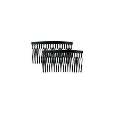 Camila Paris CP837-2 3.5 In. Black Hair Combs 4 Pack of 4