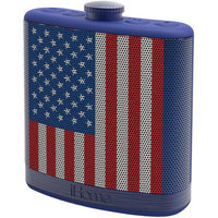 Ihome Ibt12amflxc Rechargeable Flask-shaped Bluetooth[r] Stereo Speaker With Custom Sound Case [flag]