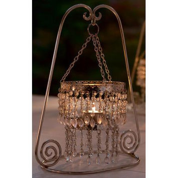 St. Croix Trading Company Clear Beaded Tealight Candle Stand