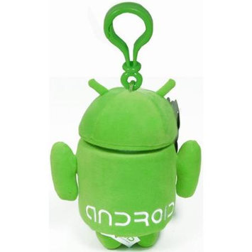 Commonwealth Toy Android Plush Backpack Clip: Green
