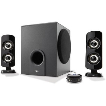Cyber Acoustics CA-3614 2.1 3-Piece Computer Speakers With Subwoofer, Black