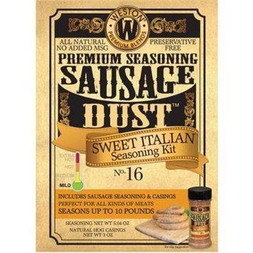Weston Pragotrade USA 02-1016-W Seasoning Kit - Sweet Italian Sausage Dust - makes 10 lbs