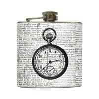 Tick Tock - Liquid Courage Flasks - 6 oz. Stainless Steel Flask