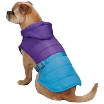 Pet Edge Dealer Services Zack and Zoey Trek Puffy Dog Jacket LG Violet