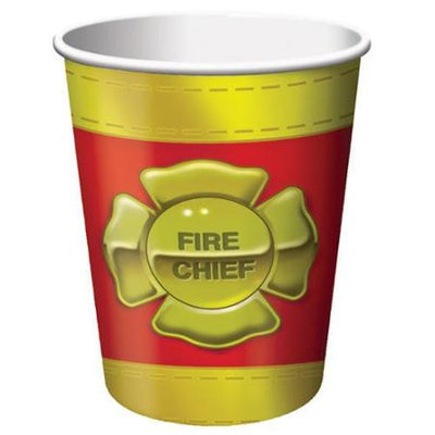 Birthday In A Box Firefighter Cups (8-pack)