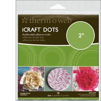 Thermoweb 33-80 iCraft Adhesive Dots-2 in. Diameter 16-Pkg
